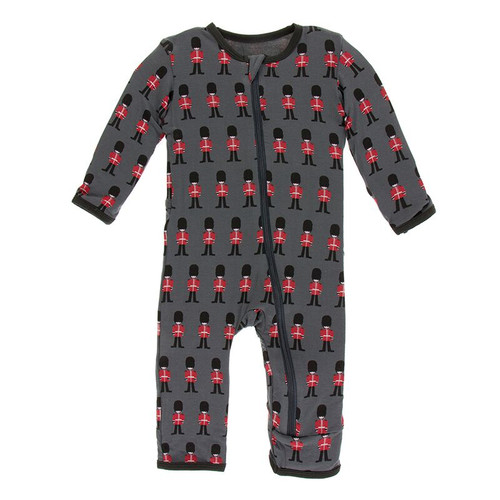 Kickee Pants Print Coverall with Zipper - Queen's Guard