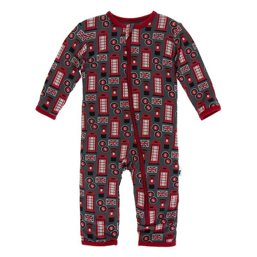 Kickee Pants Print Coverall with Zipper - Life About Town