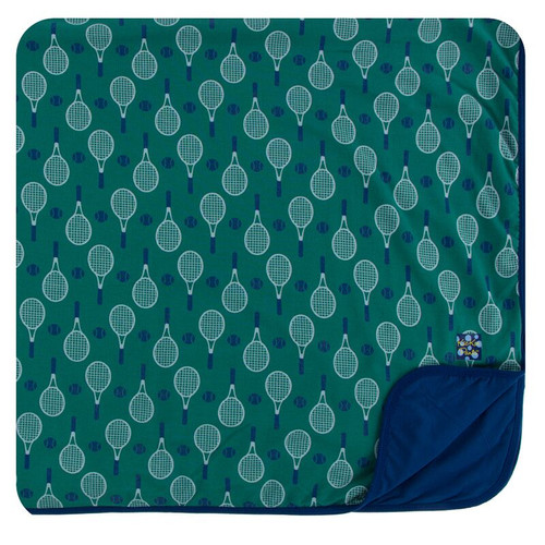 Kickee Pants Print Toddler Blanket - Ivy Tennis