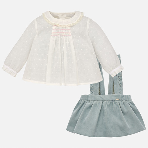 Mayoral Baby Girl Skirt and Blouse Set - Jade