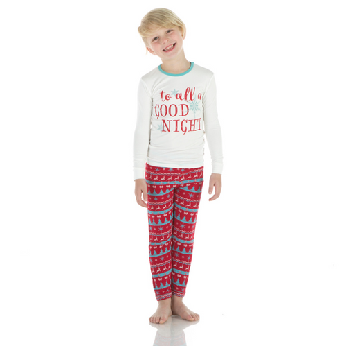 Kickee Pants Print Long Sleeve Pajama Set - Nordic Print