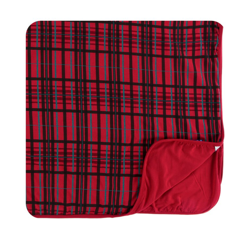 Kickee Pants Print Toddler Blanket - Christmas Plaid