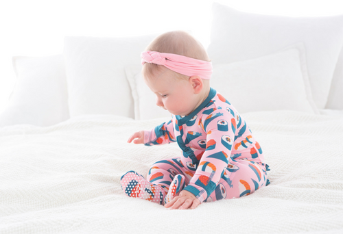 Kickee Pants Print Layette Classic Ruffle Footie with Snaps - Lotus Sushi