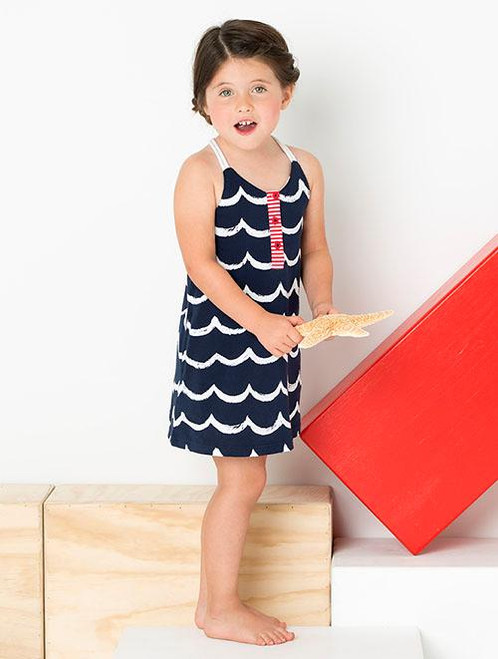Le Top Sundress with Cord Straps - Ocean Wave