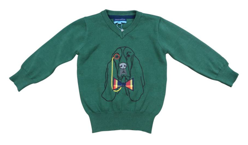 Andy & Evan Professor Houndsworth Sweater - Hunter Green