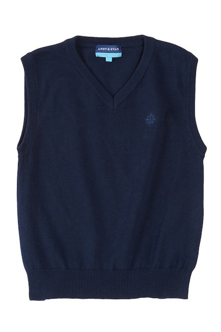 Andy & Evan The Lowell Sweater Vest - Navy