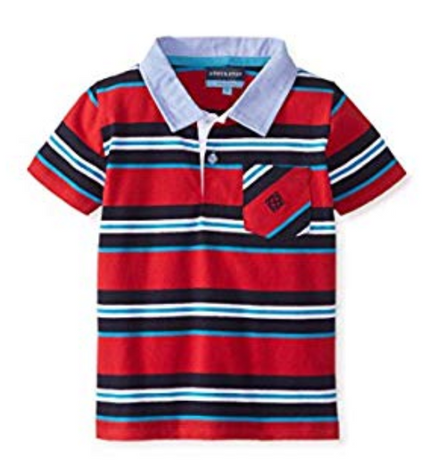 Andy & Evan Nick-Nack Polo - Red Stripe