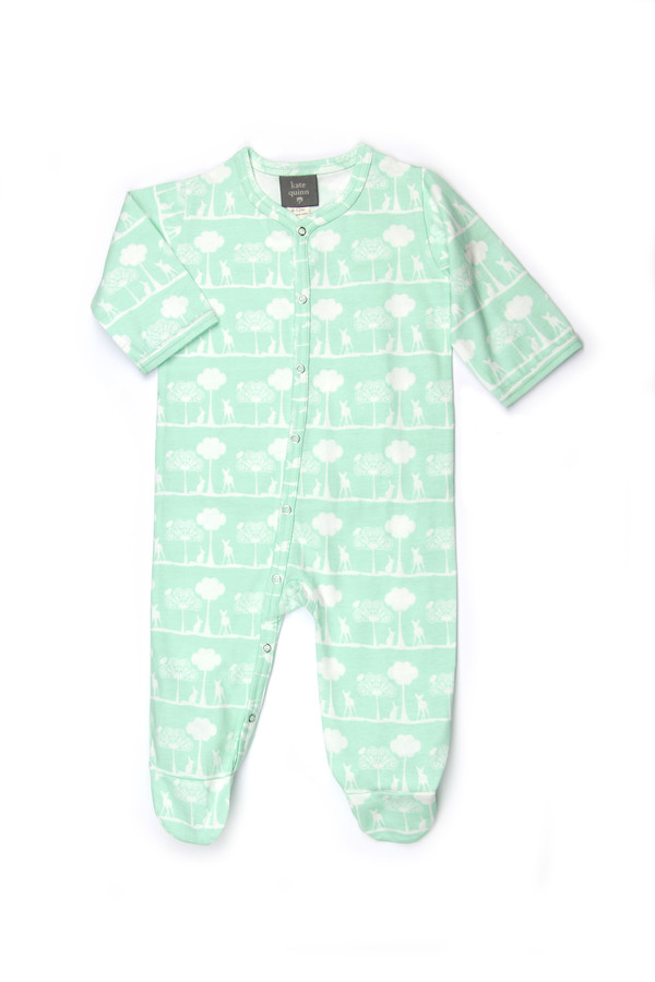 Kate Quinn Organic Cotton Footie Jumpsuit, Flora and Fauna