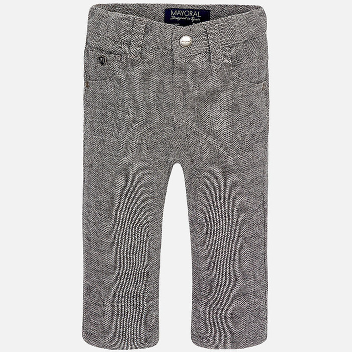 Mayoral Baby Boys Fishbone Long Trousers, Grey