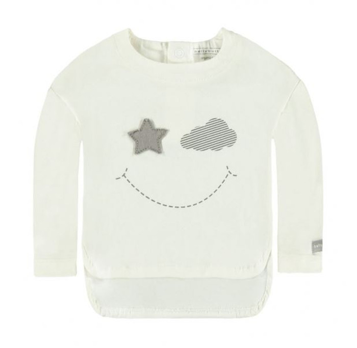 Bellybutton Organic Cotton Long Sleeve T-Shirt, Snow White