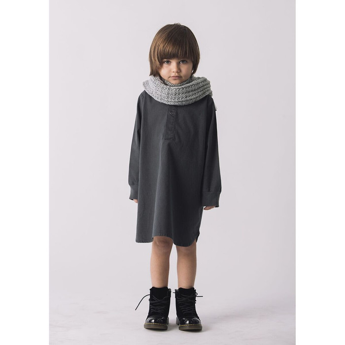 Go Gently Placket Dress, Charcoal