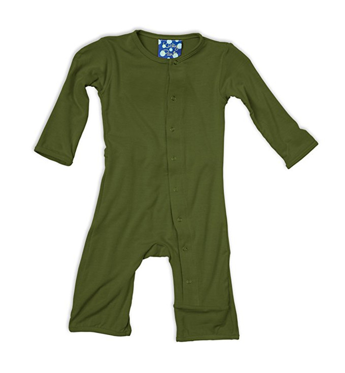 Kickee Pants Basic Coverall, Moss