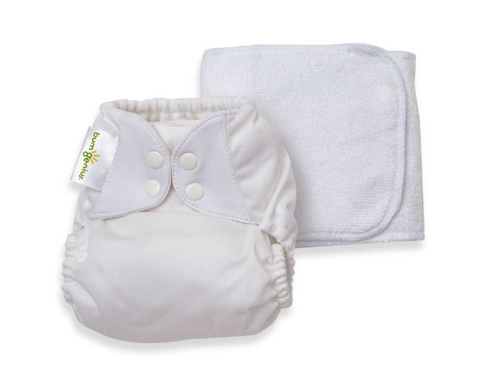 bumGenius Original 5.0 Cloth Diaper, White