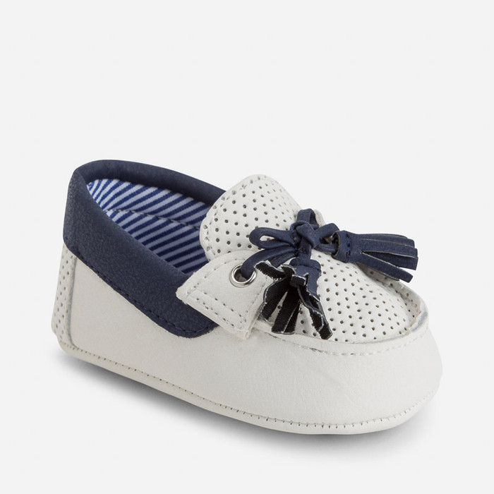 Mayoral Baby Boys Loafer Pram Shoes, Deep Blue