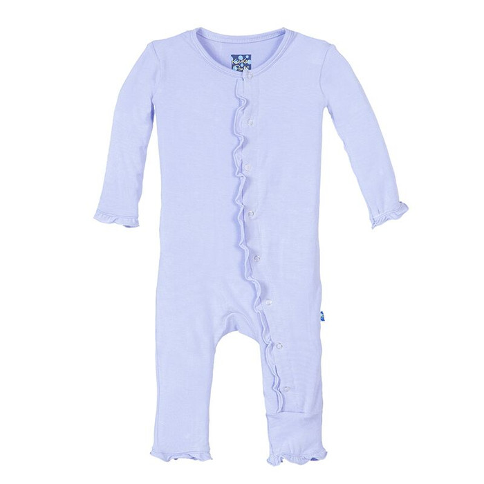 Kickee Pants Basic Muffin Ruffle Coverall, Lilac