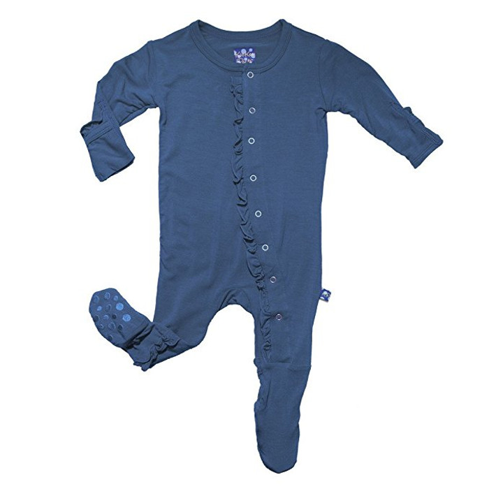 KicKee Pants Girls Ruffle Footie, Twilight