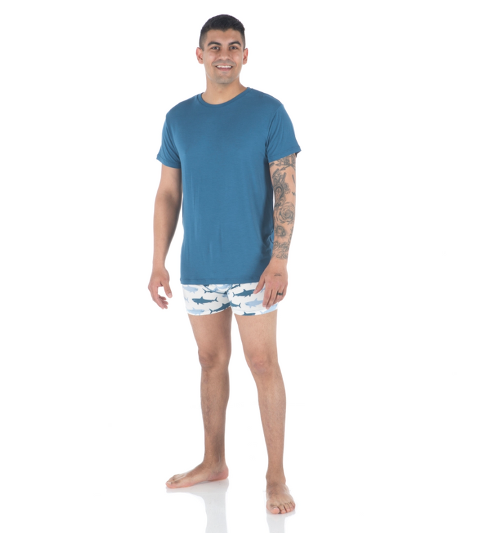 Kickee Pants Men's Basic Short Sleeve Tee - Twilight