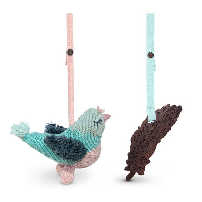 Finn + Emma 2pc Stroller Buddy Set (Penny Pigeon & Feather) - Blue