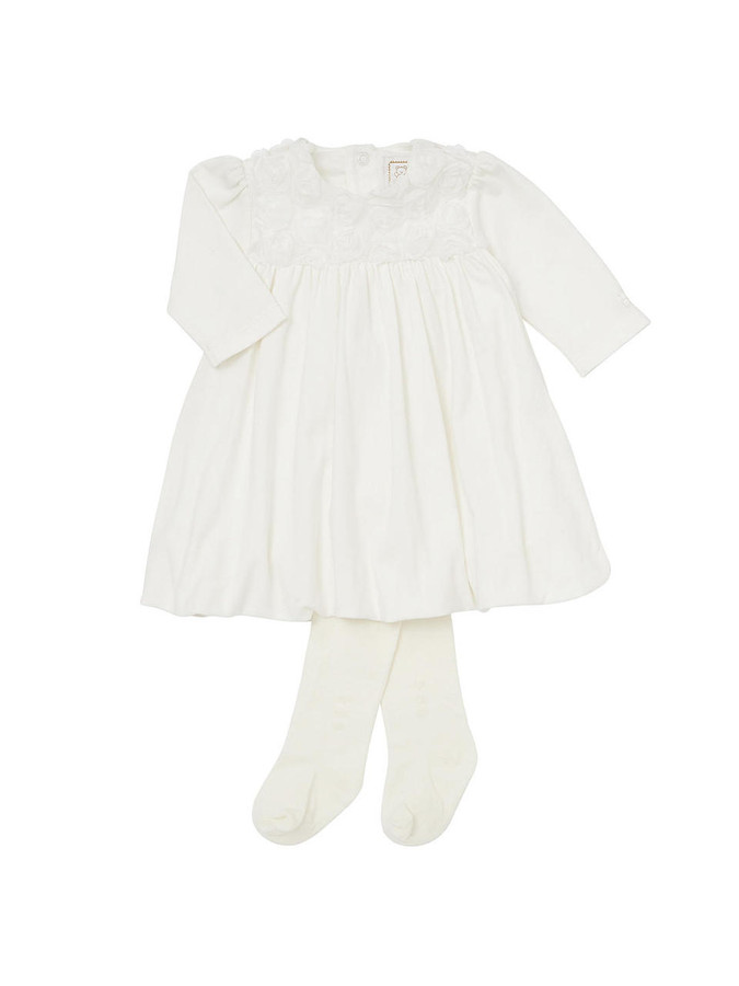 Emile et Rose Ivory Jersey Bubble Hem Dress - Fantasia