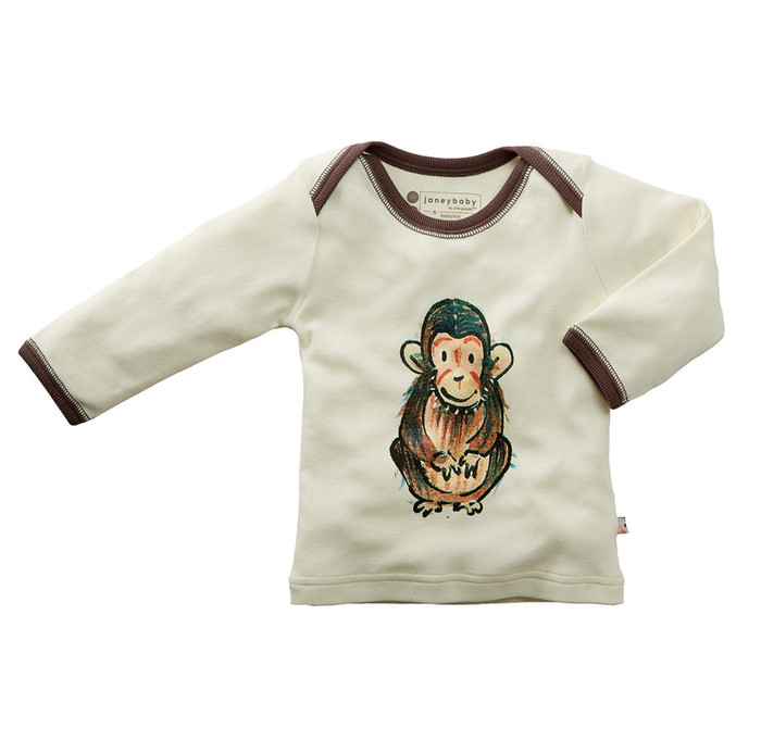 Babysoy Janey Baby Tee - Chimp