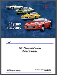 1993 2002 chevy camaro owner s manual free download westcoast rh wc autoparts com Camaro Repair Manual F-Body Camaro