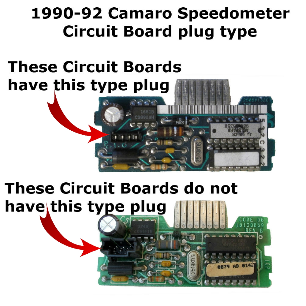 1990 91 92 Chevy Camaro Speedometer Circuit Board Plug Type 1 Hardware These Boards Have The Shown In Top Photo Please Check Compatibility With Your Before Ordering