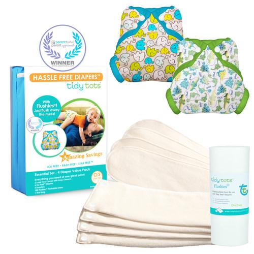 4 Diaper Snap Essential Set