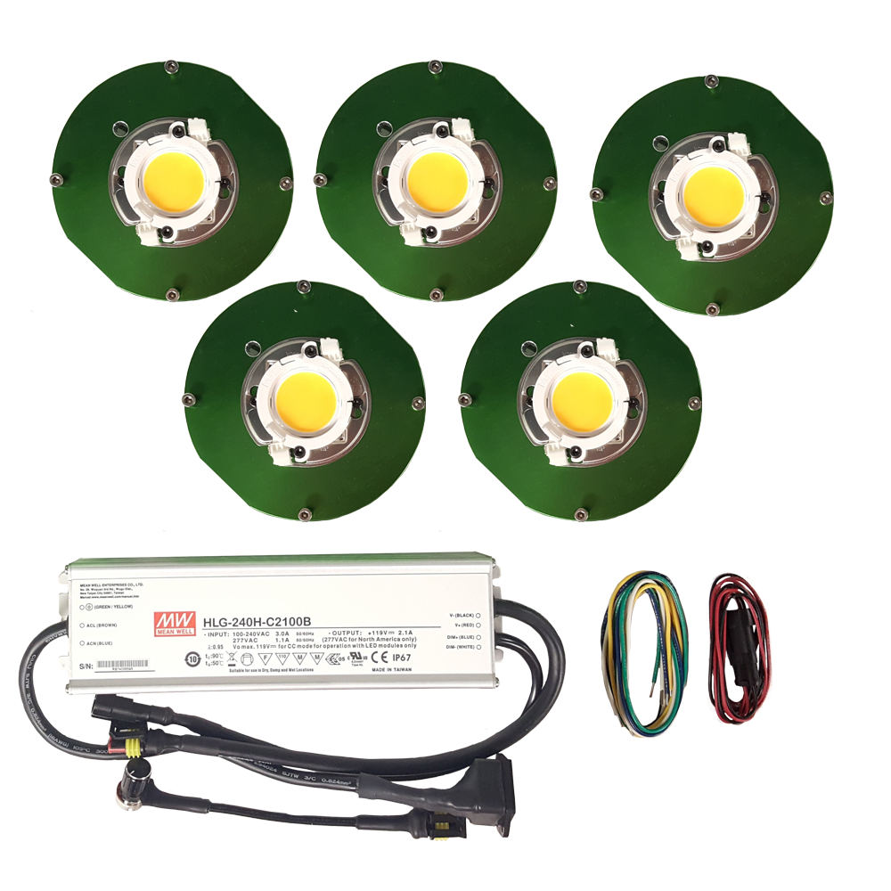 250 Watt Cree CXB3590 (5) COB Grow Light Kit