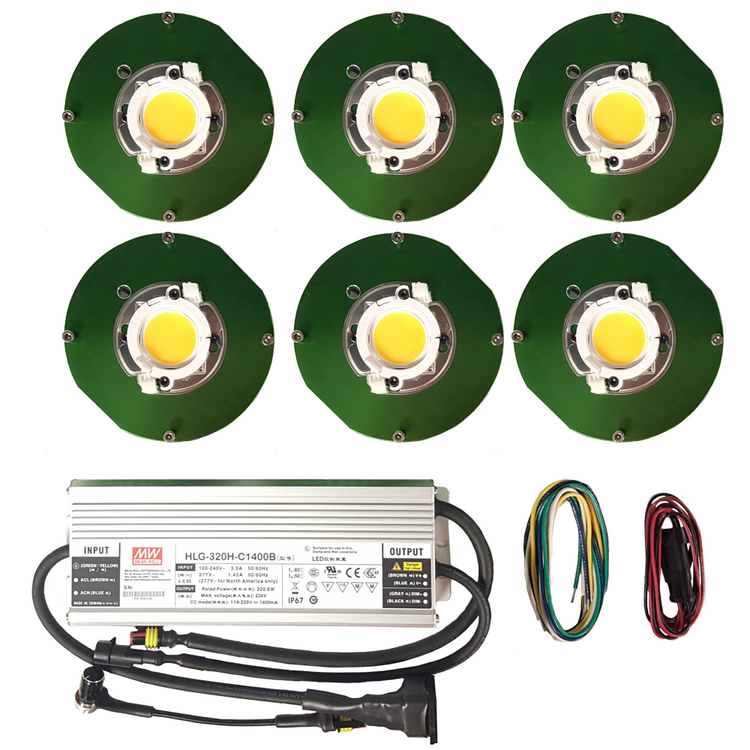 300 Watt Cree CXB3590 (6) COB Grow Light Kit