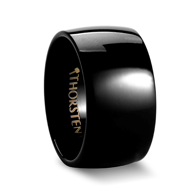 The Amyntor Black Domed Tungsten Carbide Ring from Vansweden Jewelers