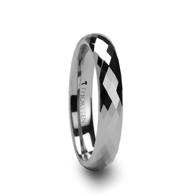 Zetes 288 Diamond Faceted Tungsten Carbide Ring from Vansweden Jewelers