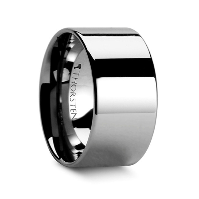 Antion Pipe Cut Polished Finish Tungsten Carbide Band from Vansweden Jewelers