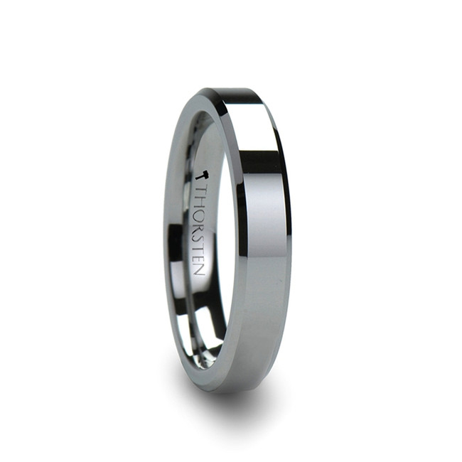 Phaeton Tungsten Carbide Ring With Bevels from Vansweden Jewelers