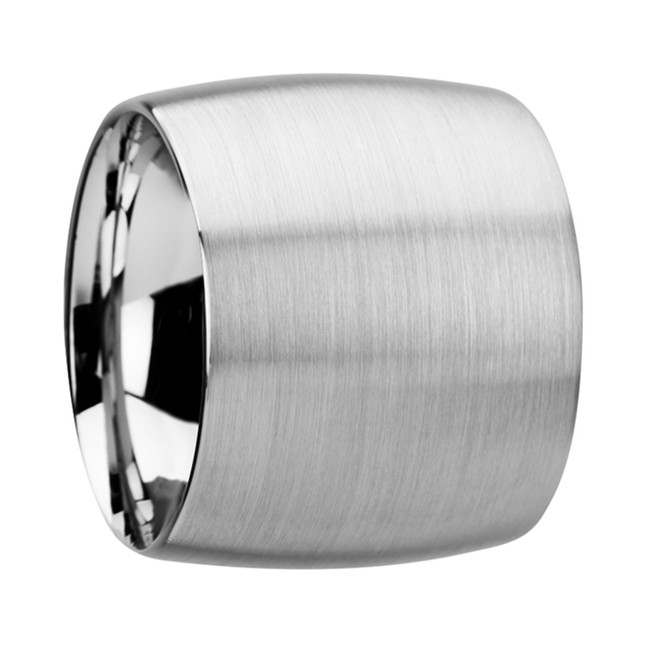 Clymenus Domed Tungsten Carbide Ring with Brushed Finish from Vansweden Jewelers