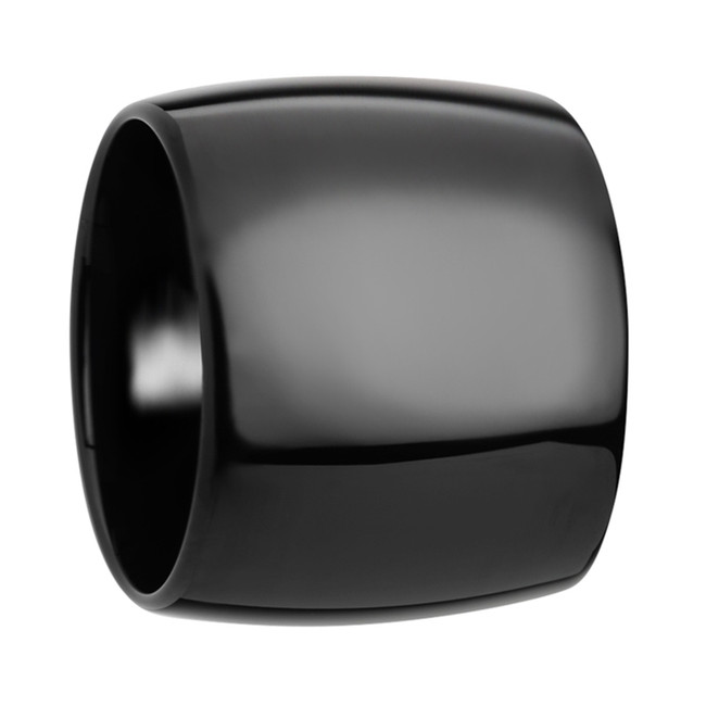 Hyrmine Domed Black Tungsten Carbide Ring with Polished Finish from Vansweden Jewelers