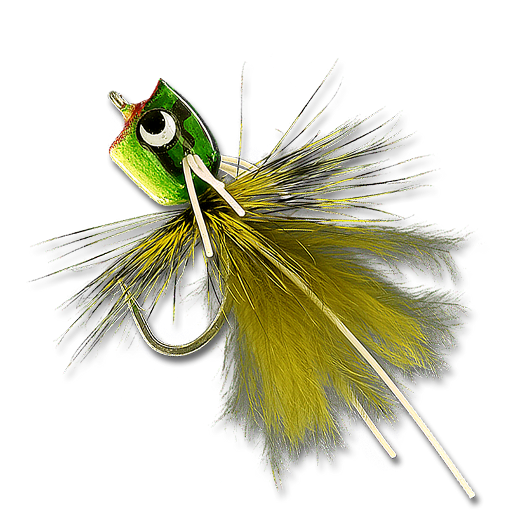 Bass & Bluegill Mini Poppers - Kermit #12