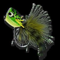 Rubberleg Largemouth Poppers - Kermit #4
