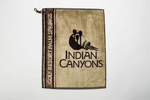Indian Canyons (Tan) Signature Golf Towel.