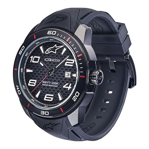 Horloge Alpinestars Tech Watch 3H Black Silicon zwart (1036-96006)
