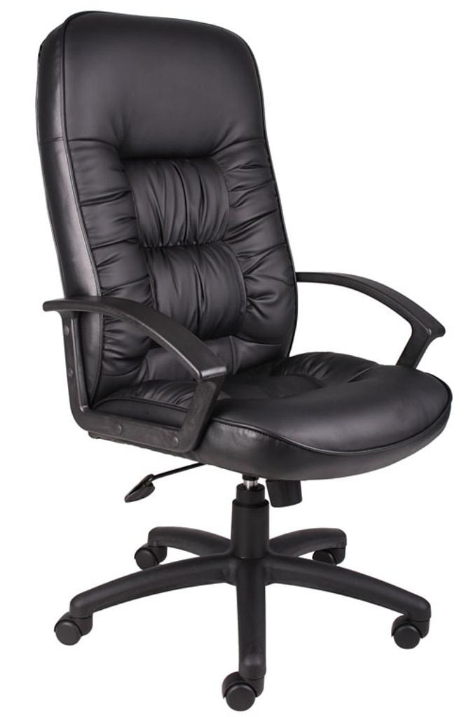 BOSS Chair B7301 HIGH BACK LEATHER CHAIR W/KNEE TILT