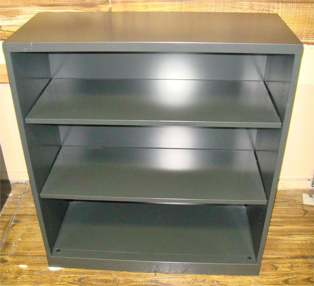 Used Bookcase Three Shelf Charcole Gray