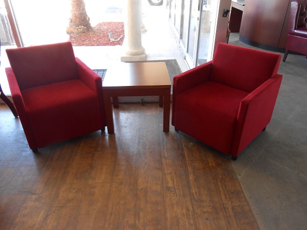 NEW Red Guest Seating Chairs