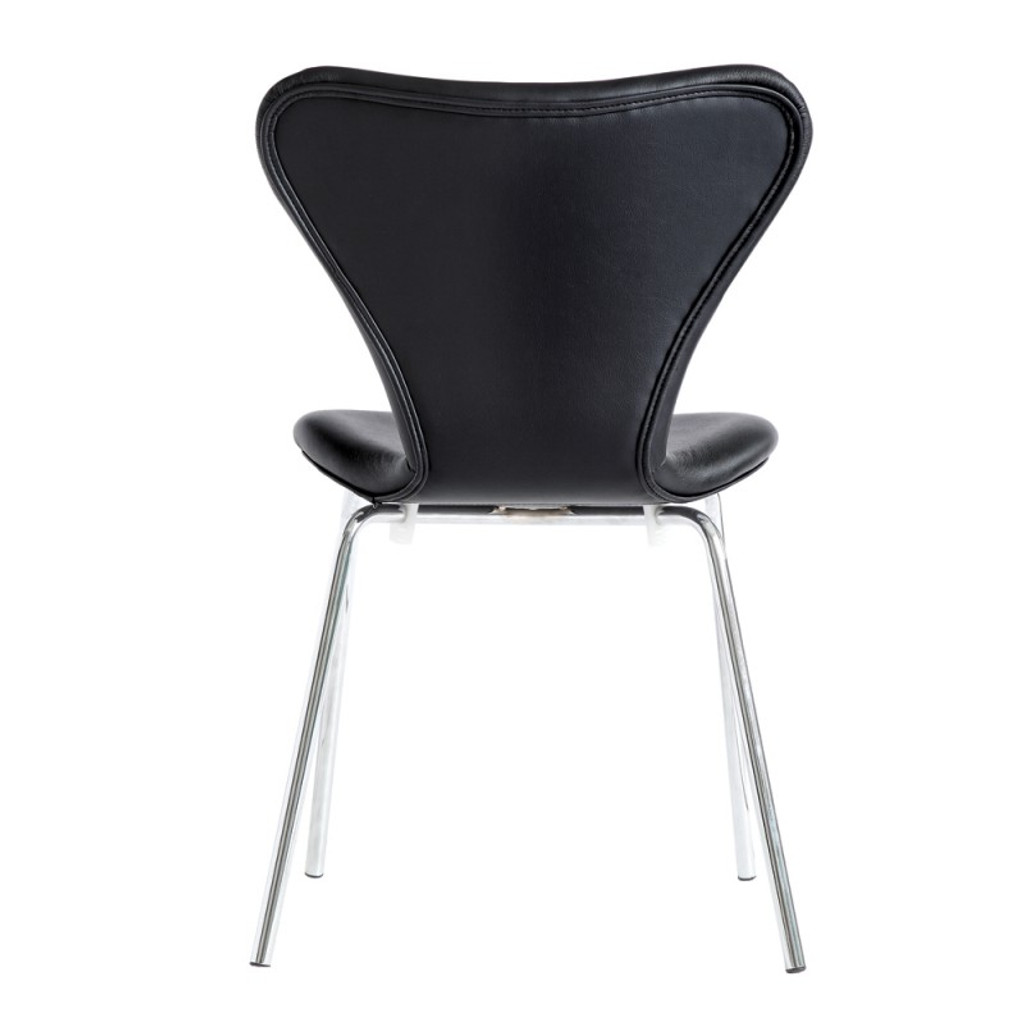 Ekto Visitor Black Leather Chair
