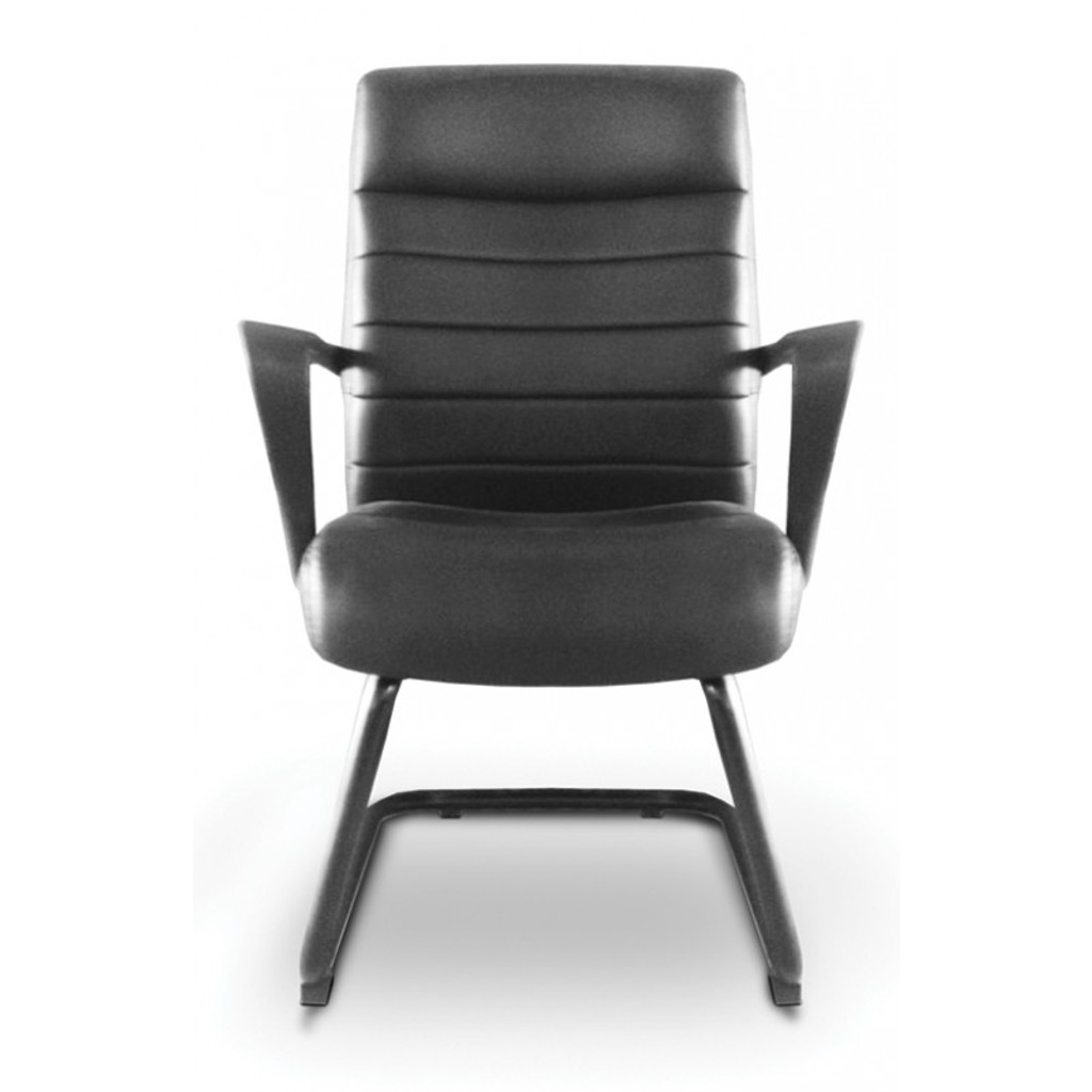 Nuovo Black Leather Visitor's Chair