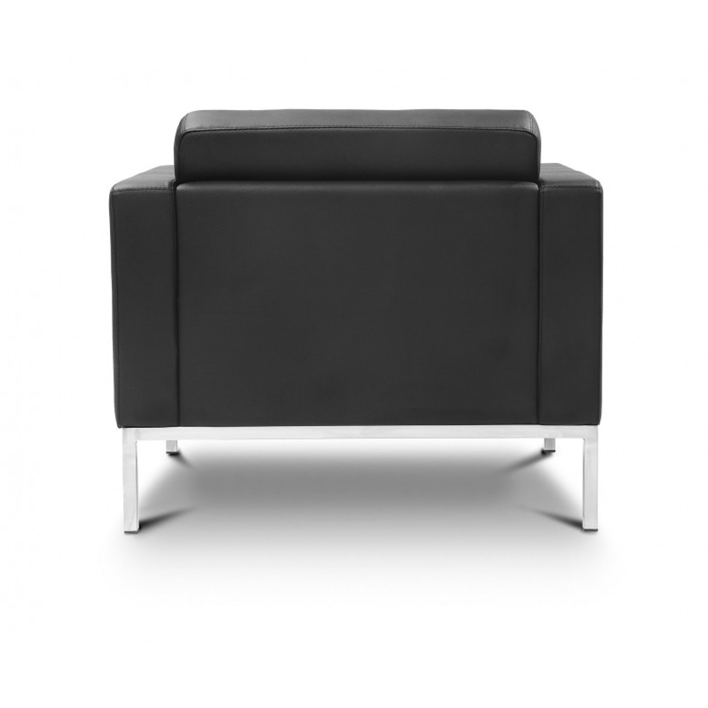 Piazza Black Leather Lounge Chair