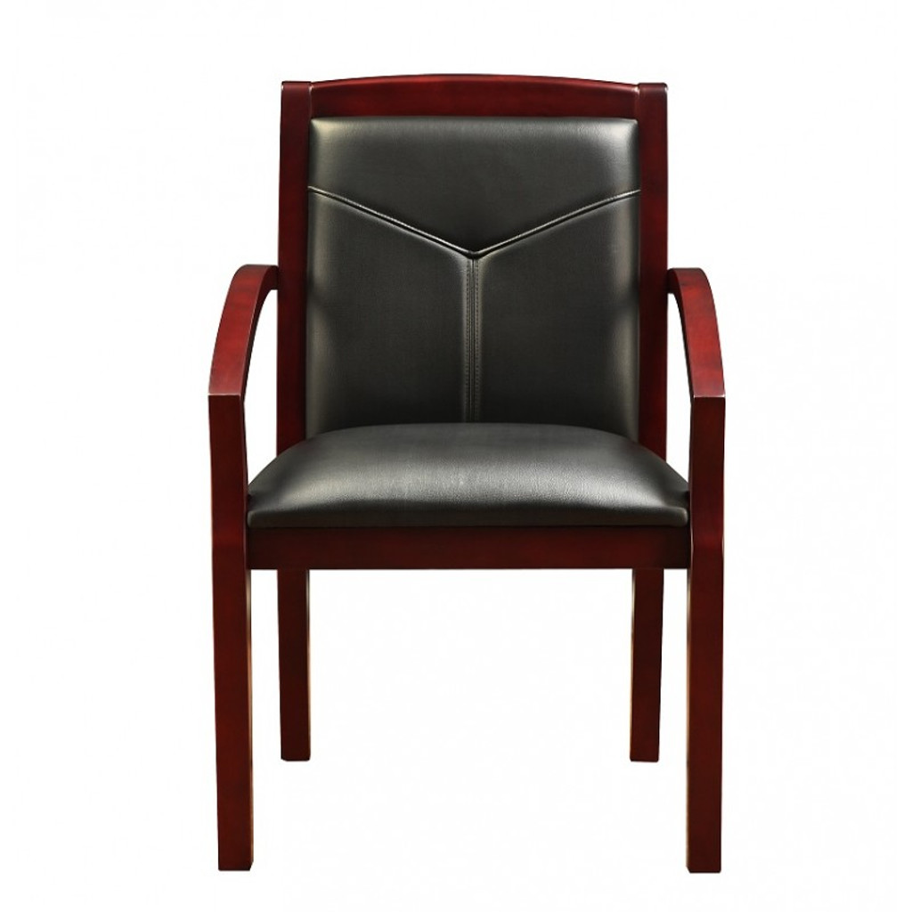 Cuscino Mahogany Wood Guest Chair