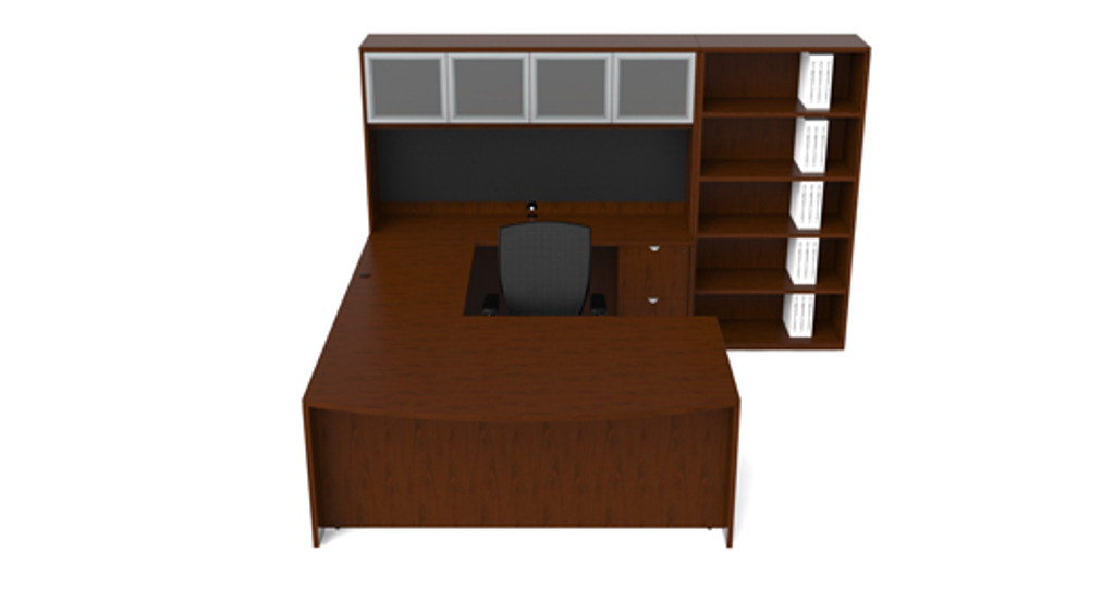 Cherryman Jade U-Desk Configuration