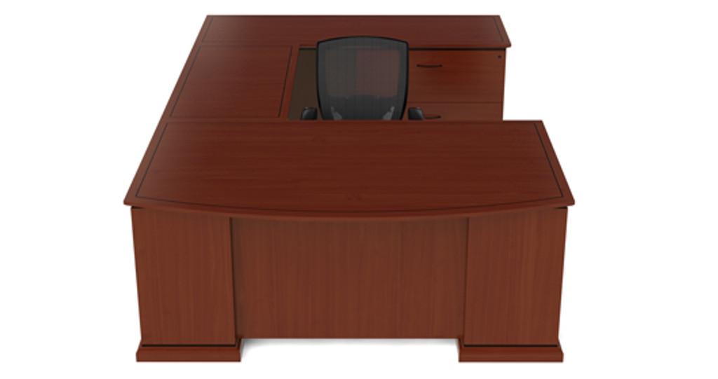 Cherryman Emerald Bowfront U-Desk, Lateral