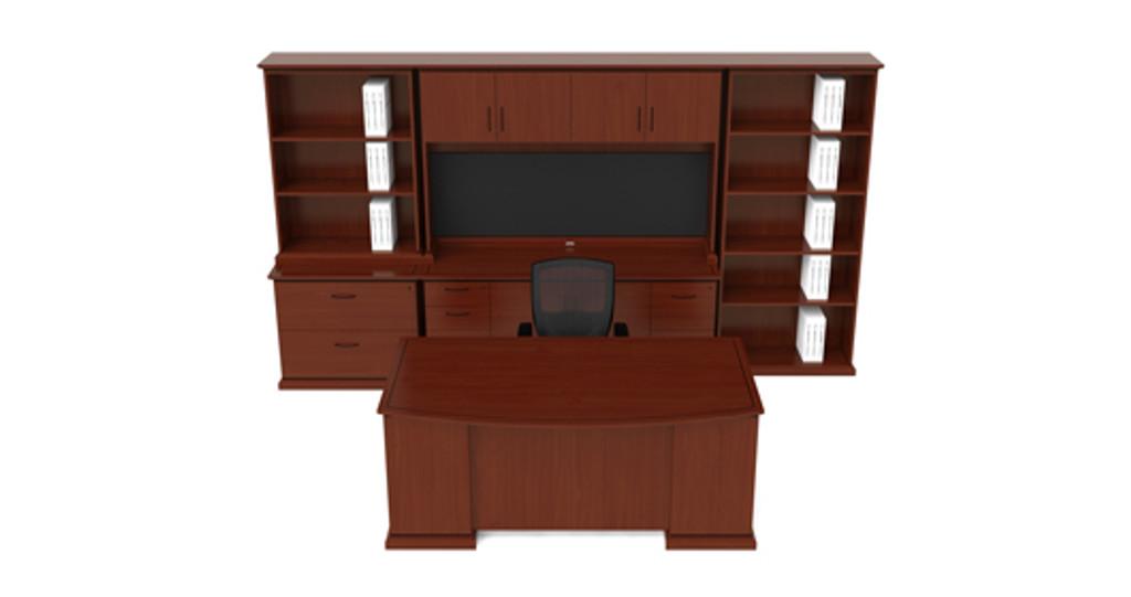 Desk. Credenza. Configuration