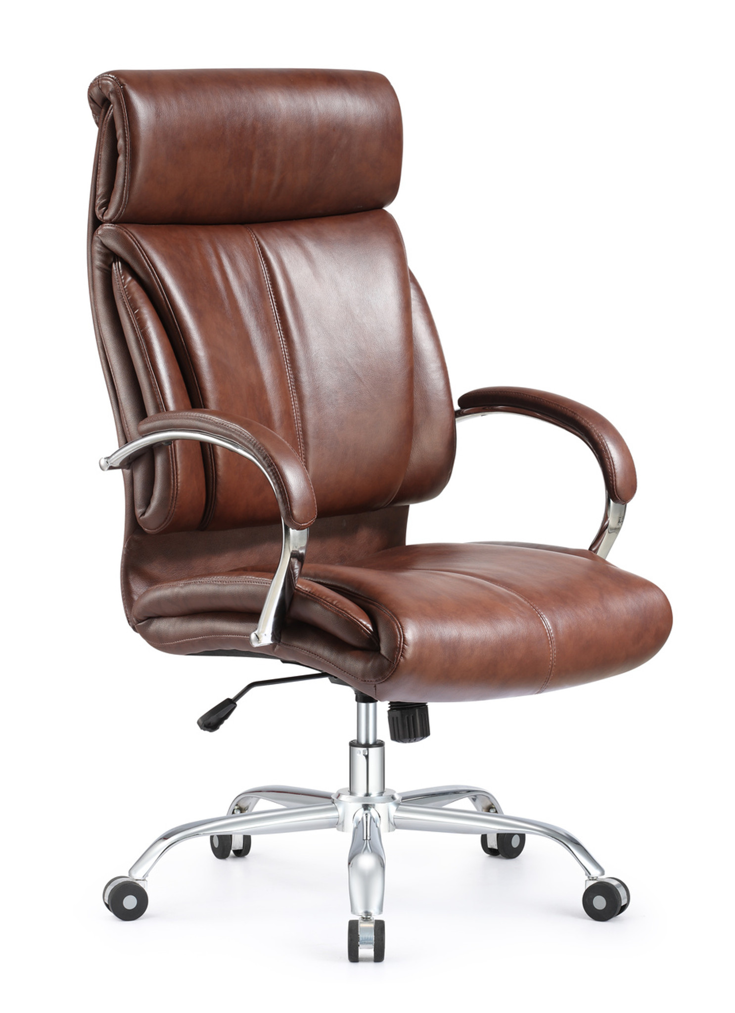 Ergonomic Style And Vintage High Back Leather Office Chair Brown Leather  Chair
